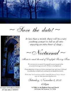 CONCERT - NOCTURNAL - SAVE THE DATE #3